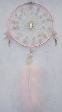 Angel Rose Quartz Dreamcatcher