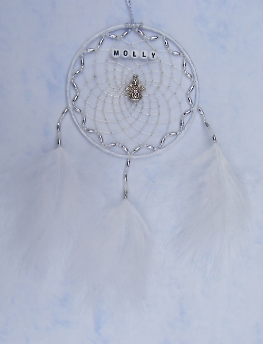 Angel White Dreamcatcher