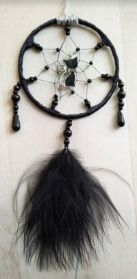 Black Cat Mini Dreamcatcher