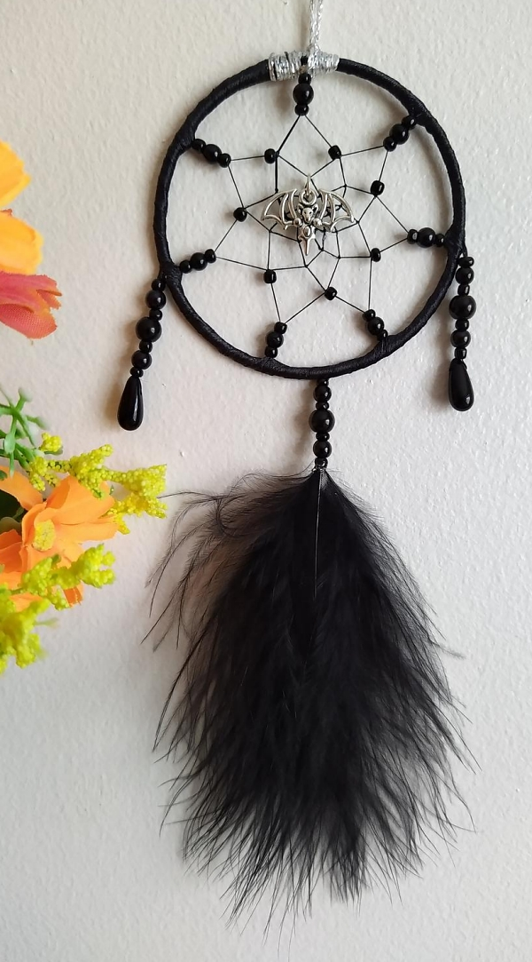 Bat Gothic Mini Dreamcatcher