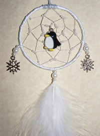 Penguin Yellow Beak Mini Dreamcatcher