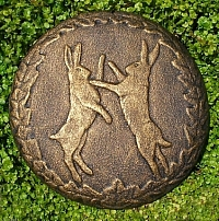 Boxing Hares Plaque